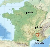 location map drome france walking tours